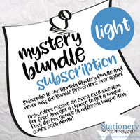 SUBSCRIPTION LIGHT - Monthly Mystery Bundle Light - Hobonichi weeks, original, cousin, TN, Standard Vertical