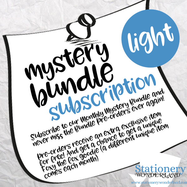 SUBSCRIPTION LIGHT - Monthly Mystery Bundle Light - TN, EC, Mini HP, Personal, Hobonichi