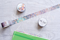 Foxy and Kitty functional hand-drawn holo foil accents Tab Tape - Planner tabs