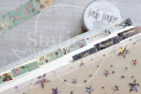 Foxy and Kitty functional monthly tabs light gold foil accents Tab Tape - Planner tabs