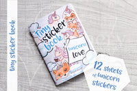 Unicorn love tiny sticker book - Micro sized sticker book