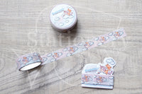 Foxy on her high unicorn hand-drawn washi tape - Washi roll, washi sampler