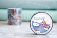 Super Foxy hand-drawn silver holo foil accents washi tape - Washi roll