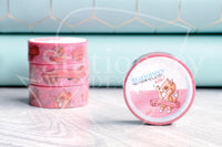 Foxy won't calm her tits hand-drawn pixie dust pink foil accents washi tape - Washi roll, washi sampler