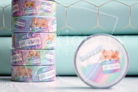 Foxy hello go away hand-drawn washi tape - Washi roll - Foxy's Sassy End of the Year