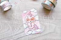 Foxy's unicorn onesie washi card - Washi sampler card