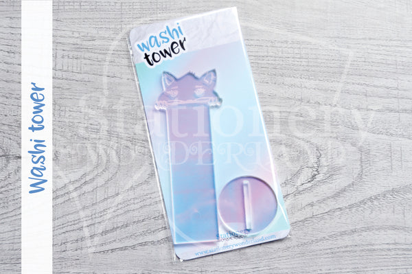 Foxy washi tower - Holographic acrylic washi stand