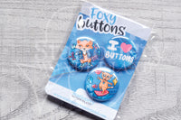 90's Foxy button badges set