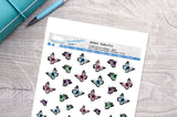 Butterflies Printable Decorative Stickers