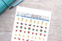 Tropical Fruits Printable Decorative Stickers