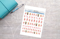 Little Red Riding Hood Printable Decorative Stickers