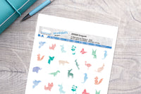 Origami animals Printable Decorative Stickers