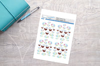 Summer Time Printable Decorative Stickers