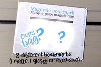 Magnetic bookmarks oops bag, magnetic clips grab bags