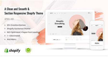 APRIL#01 - Simple Shopify theme for Fashion Store Online