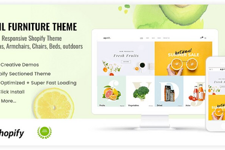 APRIL#12 - Cool theme for organic food store online