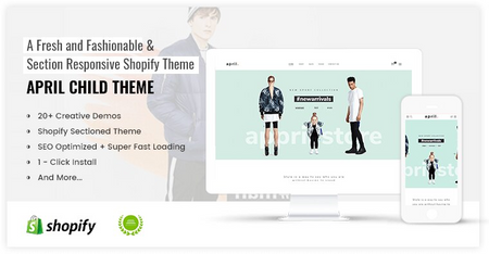 APRIL#03 - Best choice for Fashion Online store Shopify Theme