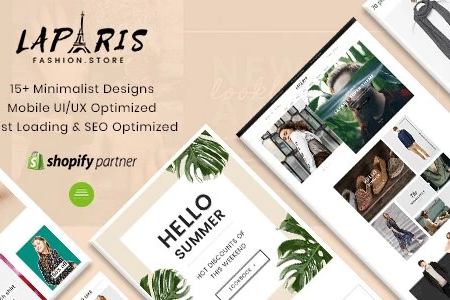 La Paris - 2018's Best Selling Sections Shopify Themes For Online Fashion Store
