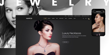Marco Jewelry - Premium Shopify theme for jewelry stores