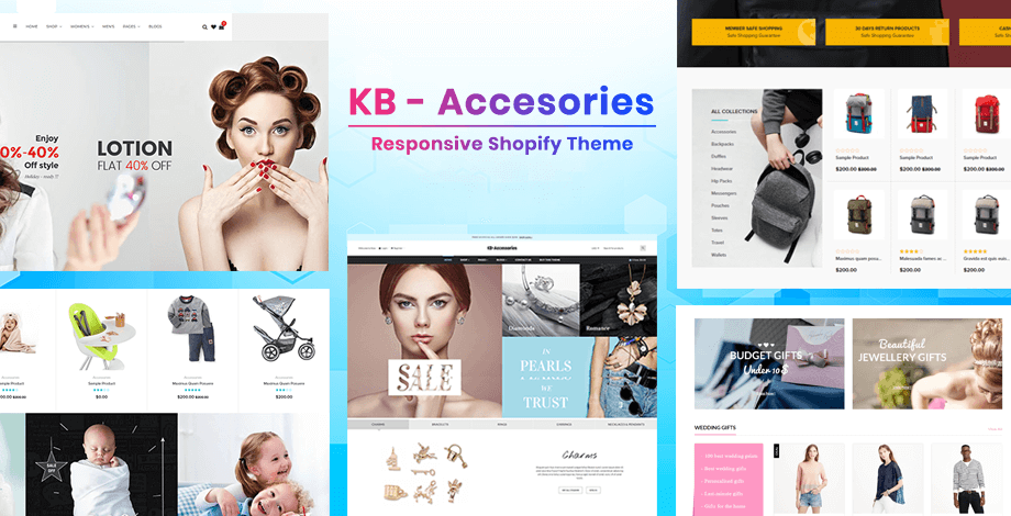 KBAccessories - Shopify sectioned theme for beauty, baby, jewelry, fashion