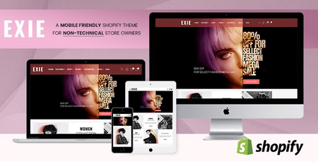 Exie - Shopify Theme for Non-Technical Fashion Store Owners