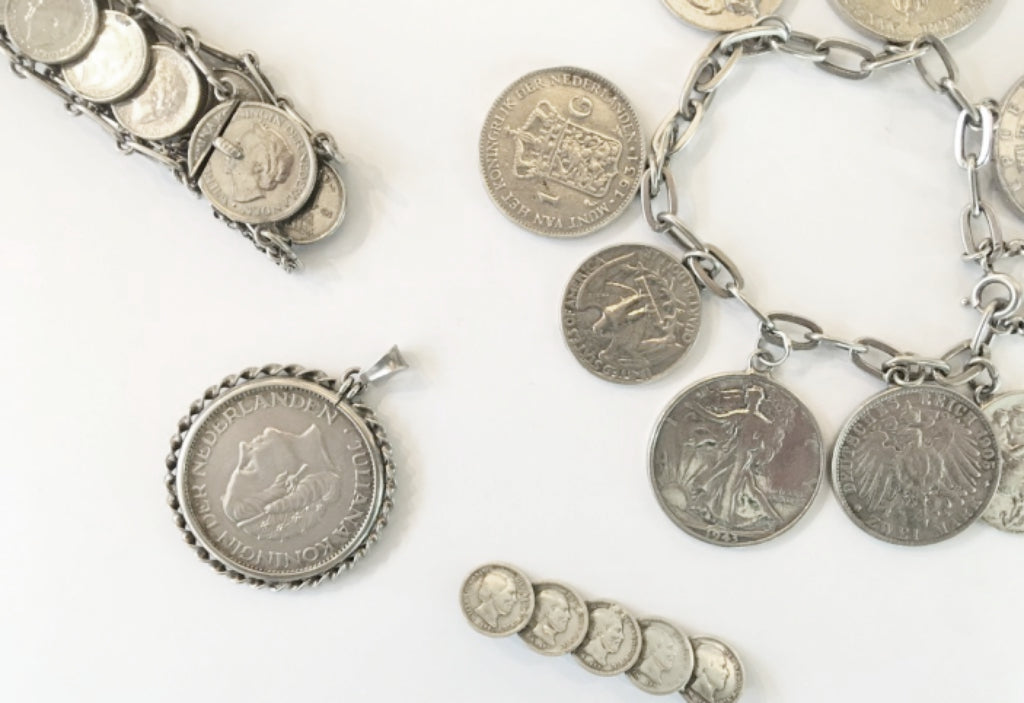 coin jewelry trend at The Antique Ring Shop