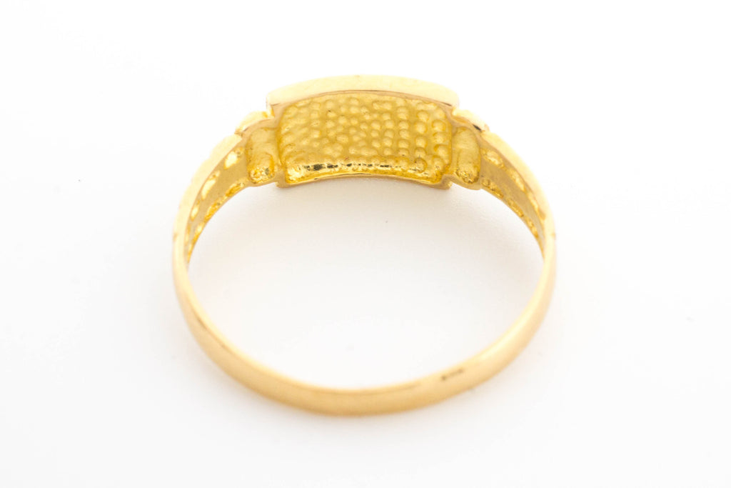22 carat gold signet style ring.-Antique rings-The Antique Ring Shop, Amsterdam
