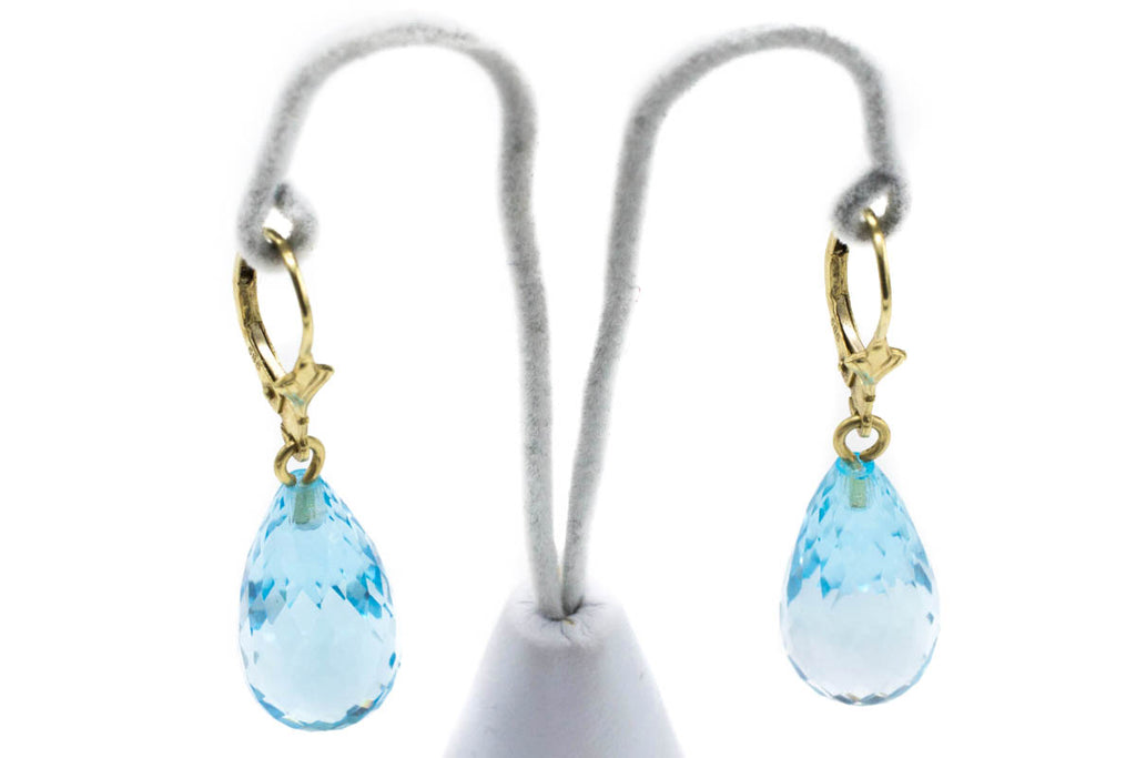 Topaz Earrings in 14 Carat Gold-Earrings-The Antique Ring Shop, Amsterdam