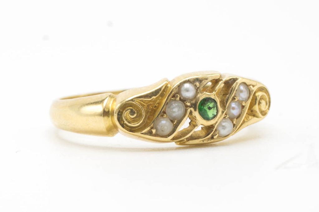 Edwardian Art Nouveau gold ring-Antique rings-The Antique Ring Shop, Amsterdam