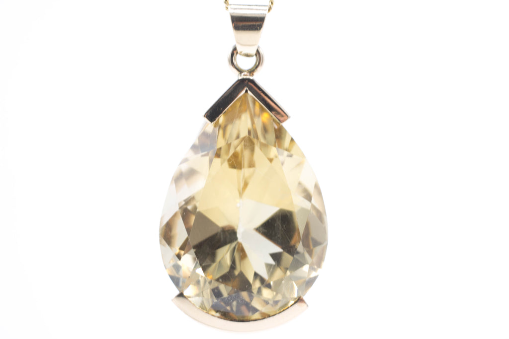Citrine pendant in 14 carat gold-Pendants-The Antique Ring Shop, Amsterdam