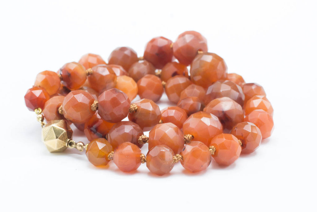 Vintage Dutch carnelian gold necklace-Pendants-The Antique Ring Shop, Amsterdam