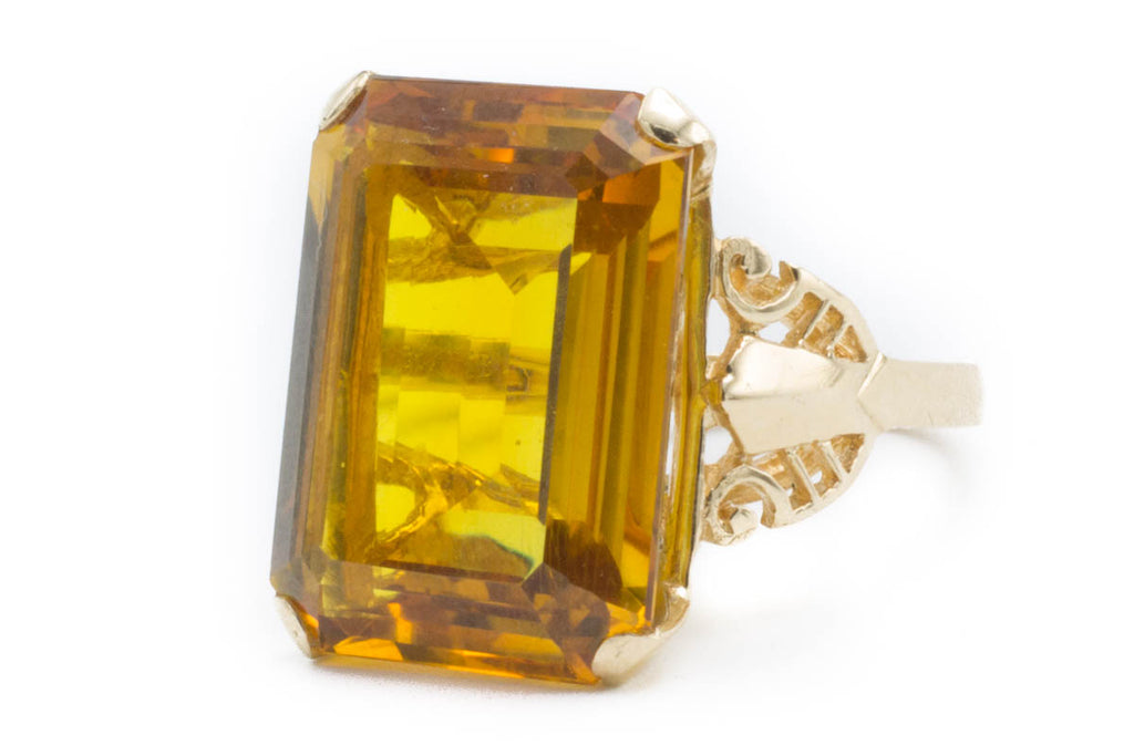 Vintage Citrine Gold Ring-Vintage & retro rings-The Antique Ring Shop, Amsterdam