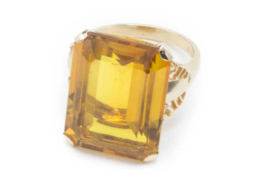 Vintage Synthetic Corundum Gold Ring-Vintage & retro rings-The Antique Ring Shop, Amsterdam
