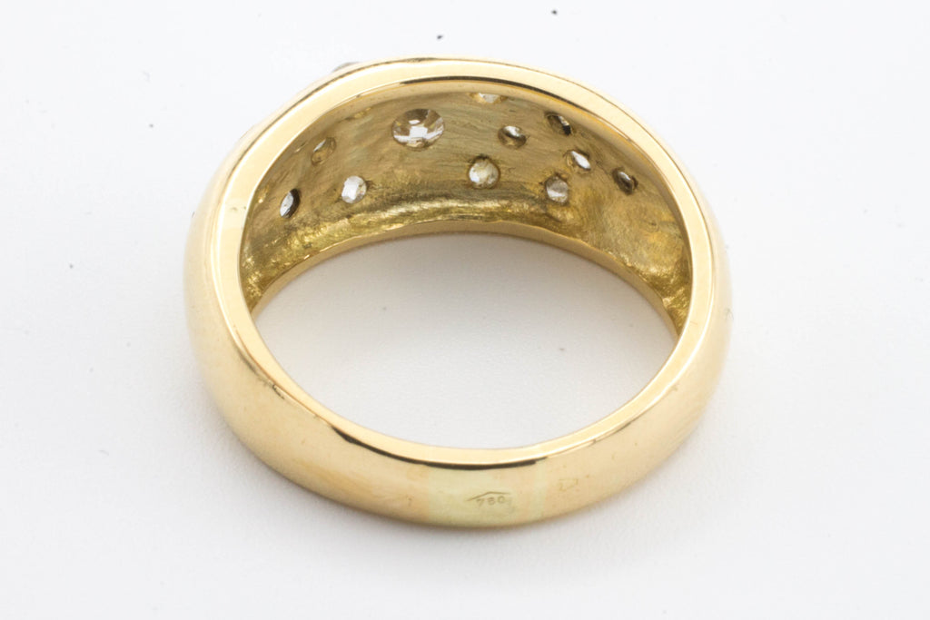 Old cut diamond ring pave set in gold-Vintage & retro rings-The Antique Ring Shop, Amsterdam