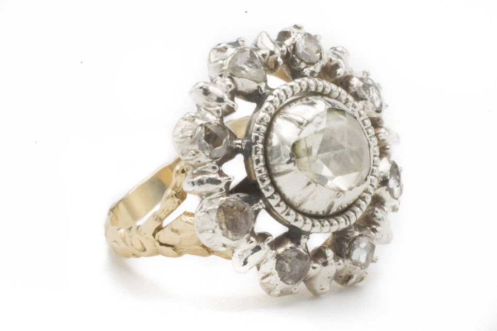 Dutch Rose Diamond Target Ring-Antique rings-The Antique Ring Shop, Amsterdam