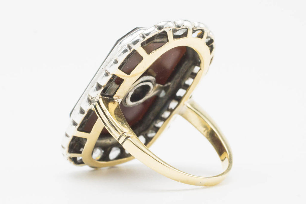 Antique Sardonyx & Diamond Gold Ring-Antique rings-The Antique Ring Shop, Amsterdam