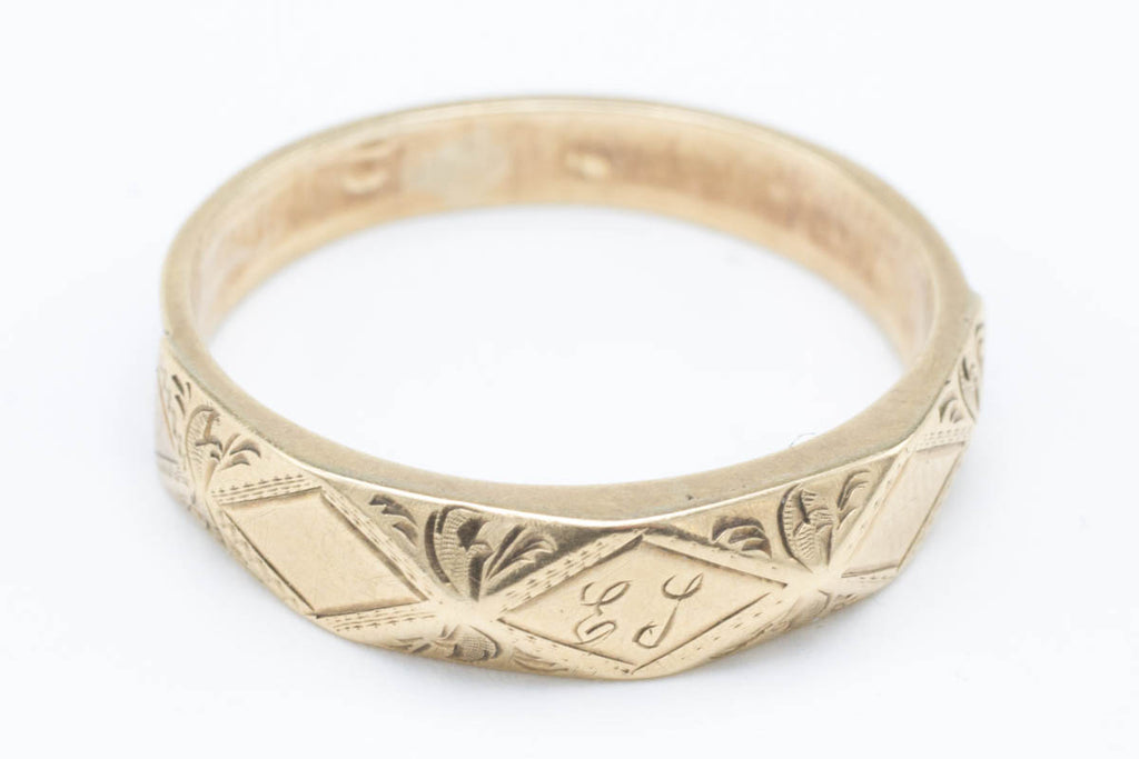 Antique Memorial Gold & Woven Hair Ring-Antique rings-The Antique Ring Shop, Amsterdam