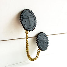 Double Moon/Balance Brooch