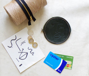Leather Embossed Coin Purse