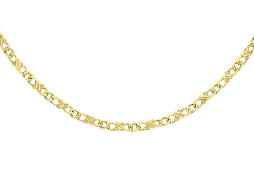 "9ct Yellow Gold Double Celtic Necklace 46cm/18"" - Dynagem"