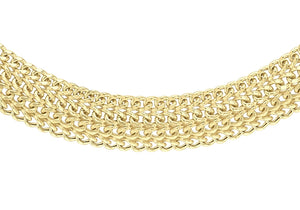9ct Gold Domed Curb Necklace