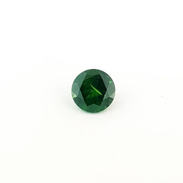 1.70ct Round Faceted Demantoid Garnet 7.2mm - Dynagem