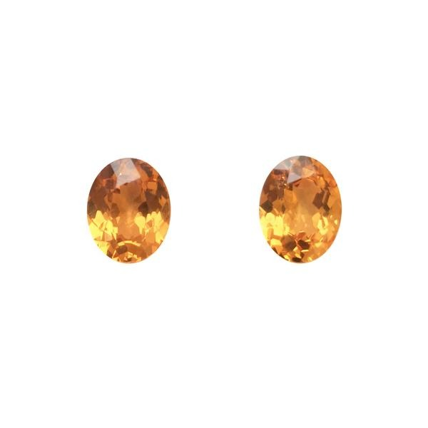 6.22ct Pair of Oval Faceted Spessartite Garnets 9.8x7.8mm - Dynagem