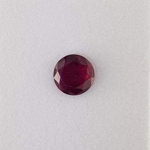 2.18ct Round Faceted Ruby 8mm - Dynagem
