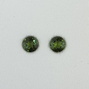 0.59ct Pair of Round Faceted Tourmalines 4.1mm
