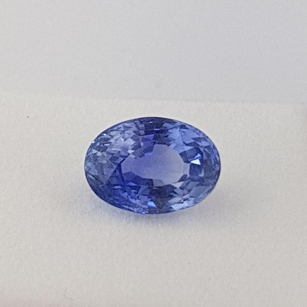 5.07ct Oval Faceted Sapphire Certified Unheated 11x8mm