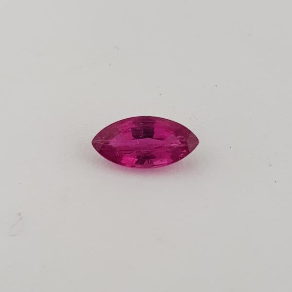0.99ct Marquise Cut Ruby 9x4.4mm