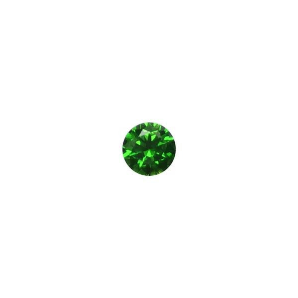 0.61ct Round Faceted Demantoid Garnet 5mm