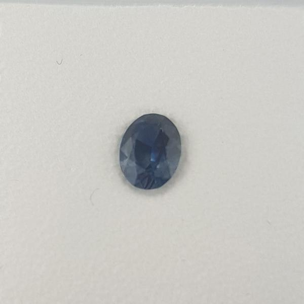 0.62ct Oval Faceted Blue Sapphire 6x4.6mm