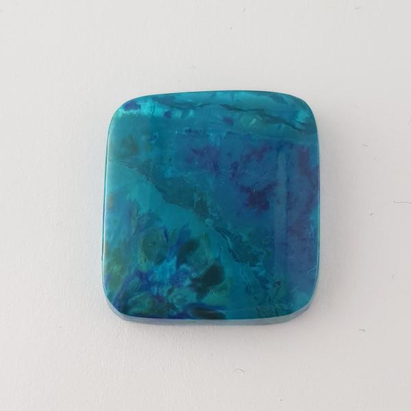 Cushion Shape Cabochon Chrysocolla 24x22.5mm